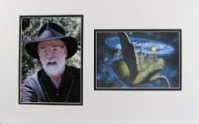 Terry Pratchett Autograph Signed Display